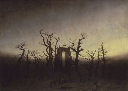 Friedrich, Casper David: Abbey Among Oak Trees (Abtei im Eichwald). Fine Art Print.  (003908)